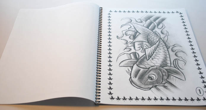 koi tattoo flash book. koi tattoo flash book.